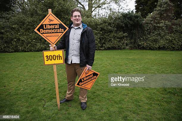 Activists gather to see Nick Clegg launch the party's General Election 2015 campaign on March 29 2015 in Abingdon England The Liberal Democratic...