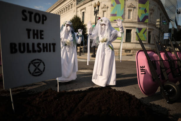 DC: Climate Activists Protest Biden Administration's Environmental Response On Earth Day