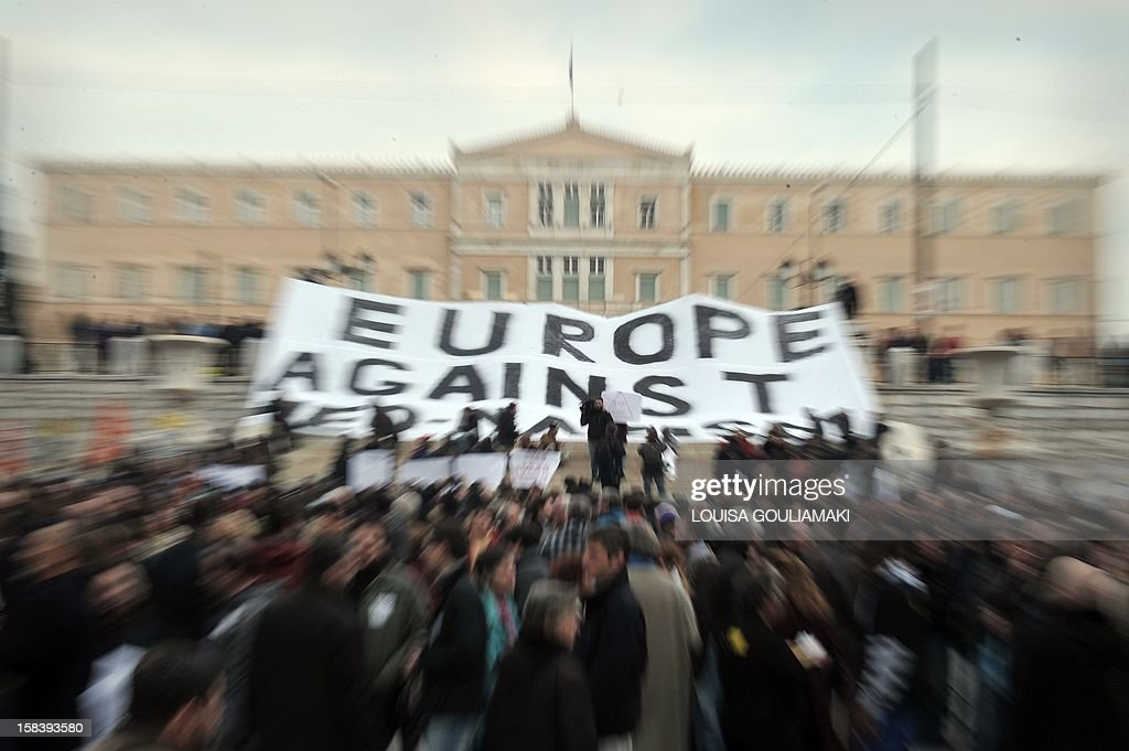 GREECE-POLITICS-NEONAZI-RACISM-IMMIGRATION-EU-EUROPE : News Photo