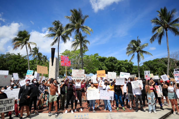 FL: Protests Break Out Against Police Brutality In Miami After Death Of George Floyd