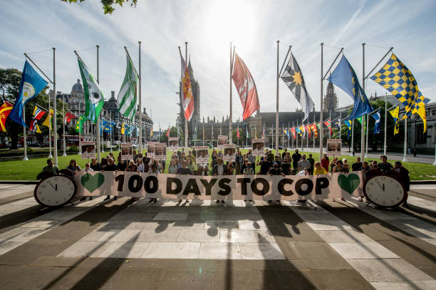GBR: The Climate Coalition Protest Ahead Of The UK Hosting COP26