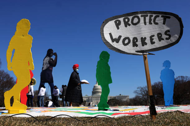 DC: Rally For Raise The Wage Act Held On International Women's Day