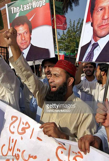 Activists of Pakistan TehreekeInsaf party stage a protest against the military operation in the tribal area of North Waziristan in Peshawar 11...