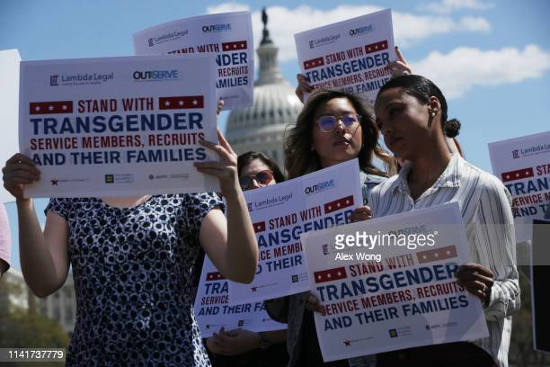 Activists participate in a rally at the Reflecting Pool of the U.S. Capitol April 10, 2019 in Washington, DC. Democratic lawmakers joined activists...