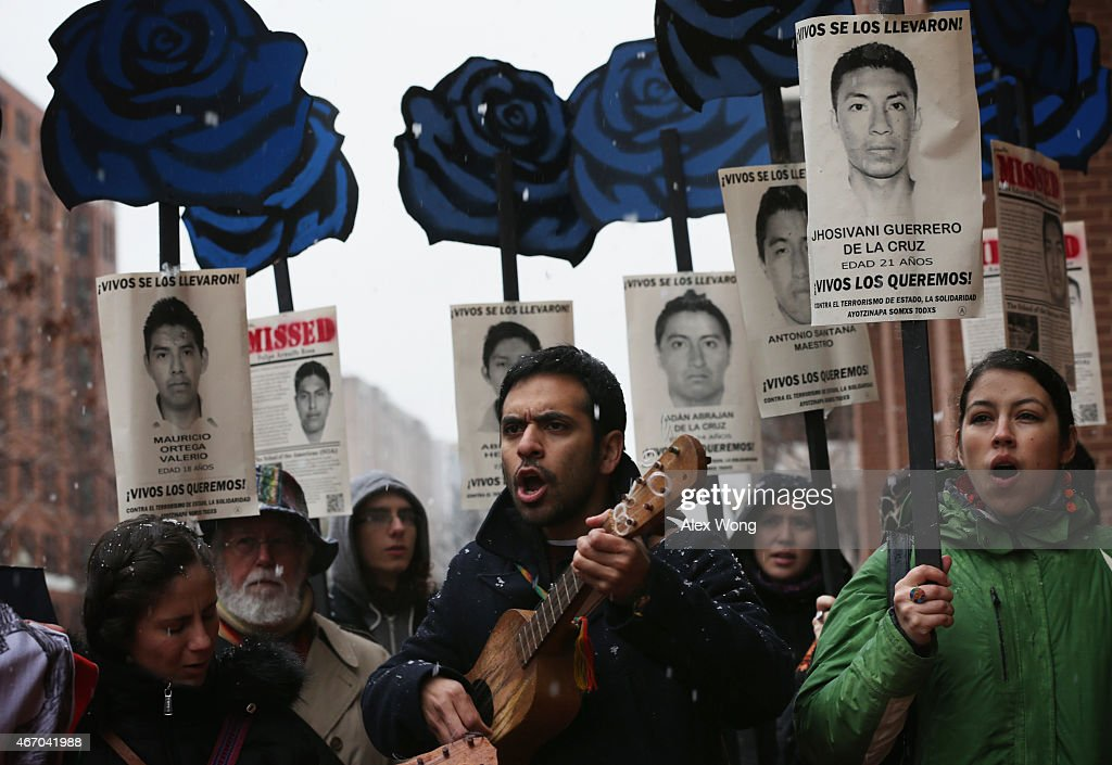 Activists Rally On Behalf Of Missing Mexican Students In Washington : News Photo