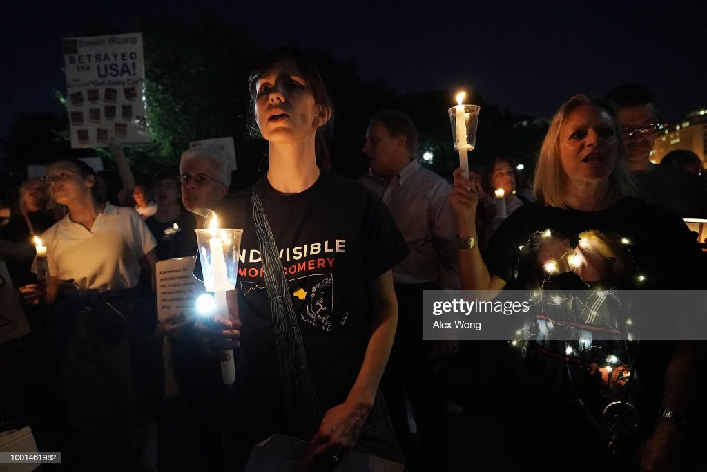Candlelight Vigil Held In Front Of White House As Part Of Nationwide Protest