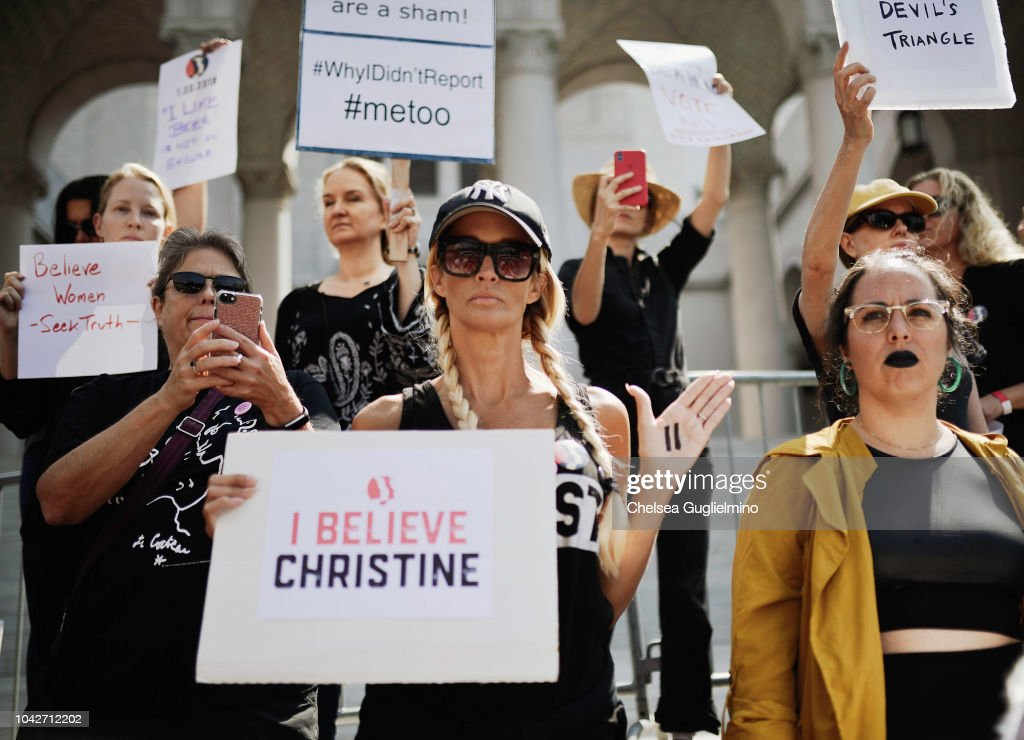 TIME'S UP & Partners Host Believe Survivors. STOP Kavanaugh. Rally In Los Angeles : News Photo