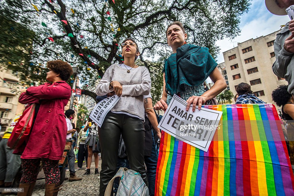 LGBT rights demonstration in Sao Paulo : News Photo