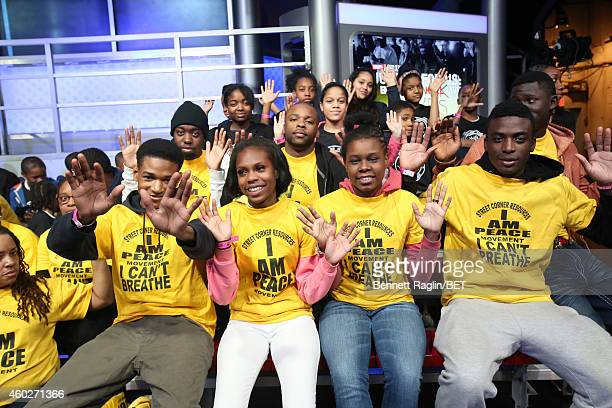 Activists Phillip Agnew and Philip Atiba Goff attend Justice For UsBET Town Hall Live at BET studio on December 10 2014 in New York City