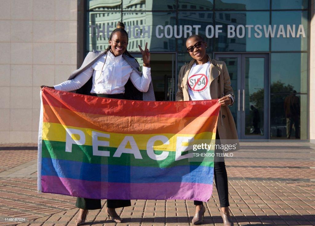 TOPSHOT-BOTSWANA-COURT-GAY : News Photo