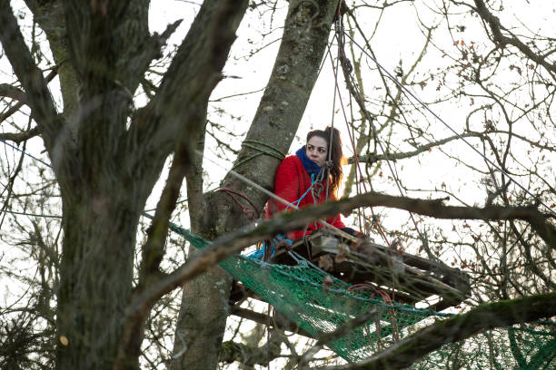 GBR: Extinction Rebellion Activists Camp In Colne Valley To Prevent The HS2 Tree Felling