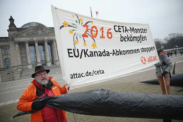 Activists Protest CETA Trade Agreement Negotiations Photos and ...