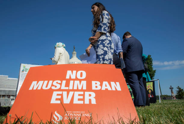 DC: Members Of Congress Hold Event Marking First Anniversary Of Trump's Muslim Ban