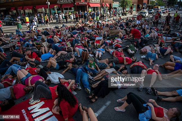Activists protest the death of Philando Castile on July 8 2016 in downtown Minneapolis Minnesota Castile was shot and killed by police on July 6 2016...