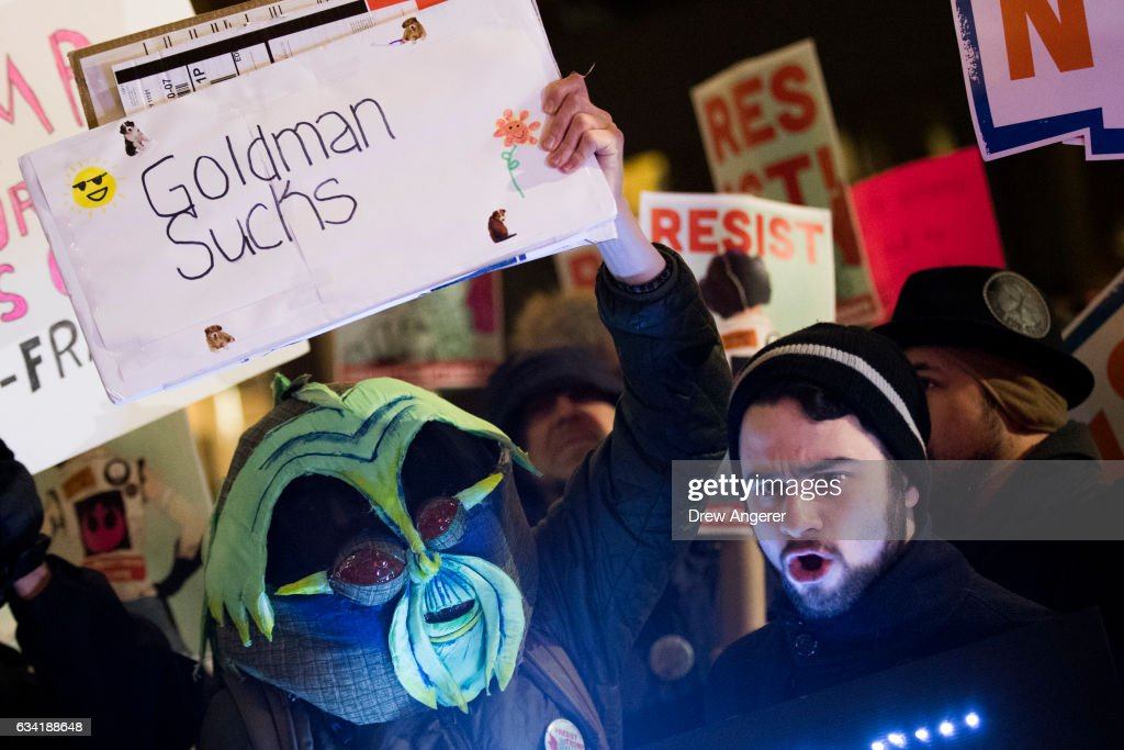Activists Rally At Goldman Sachs To Protest Dodd-Frank Rollback