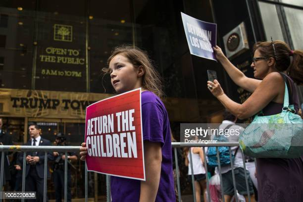 Activists rally and call on the Trump administration to meet tomorrow's court ordered deadline to return immigrant children to their families after...