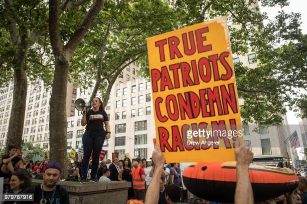 Activists rally to support immigrants and to mark World Refugee Day June 20 2018 in Midtown Manhattan in New York City Bowing to political pressure...