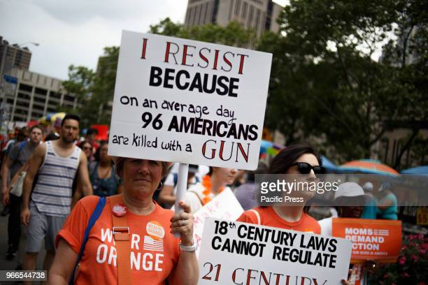 Activists seeking an end to gun violence in American schools and society attend the Youth Over Guns March from Brooklyn to Manhattan