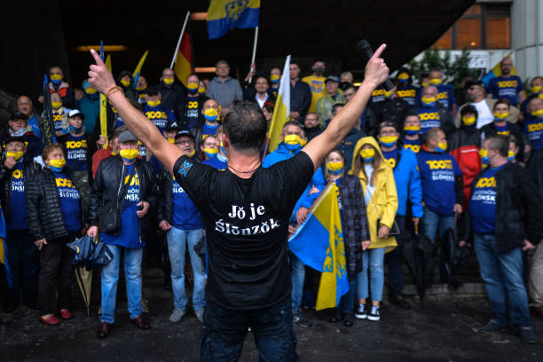 POL: March For Silesian Autonomy In Katowice