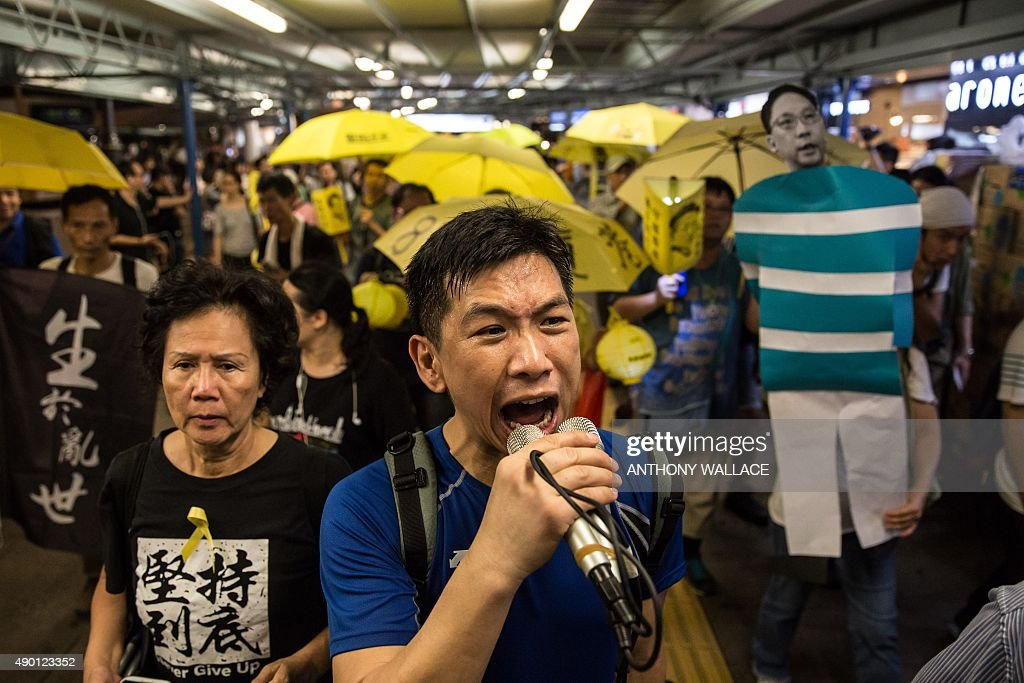 HONG KONG-CHINA-POLITICS-DEMOCRACY : News Photo