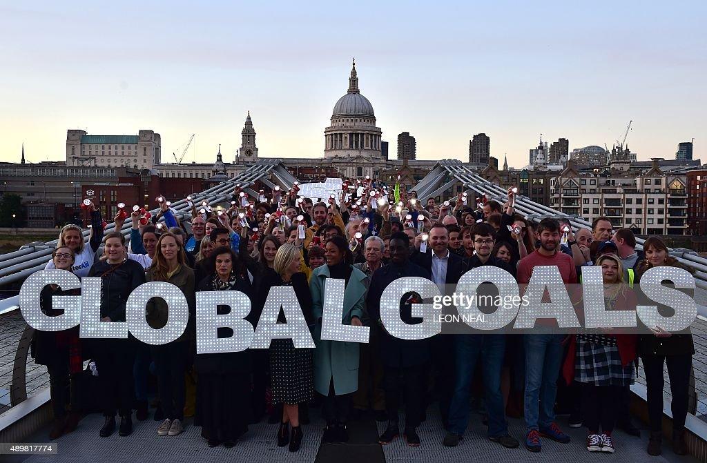 BRITAIN-PROTEST-UN-DEVELOPMENT : News Photo
