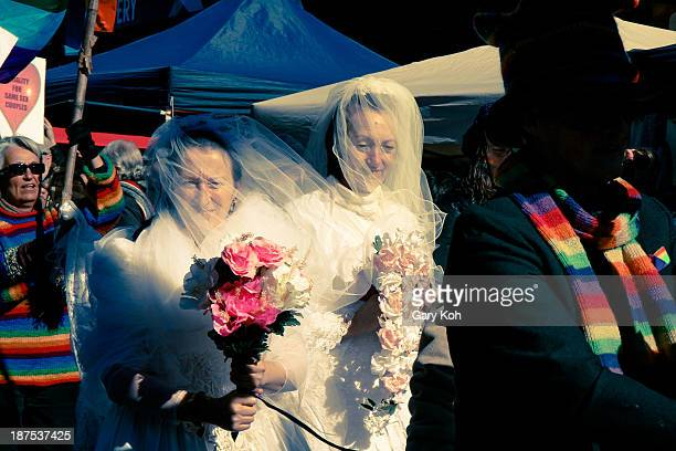 Activists take part in a street parade in Australia to advocate gay rights. The Katoomba Winter Magic Festival is an annual event which takes place...