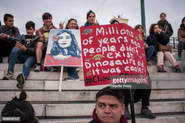 Activists take part in the Womens March 2018 in Athens demonstrating for women's rights, LGBTQ rights, equality in the workplace, refugee rights,...