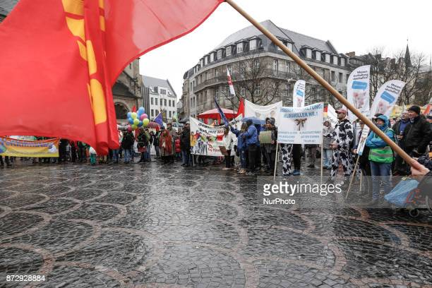 Activists took to the streets of Bonn Germany to protest against changing of the climate during the climate change conference COP23 on the November...