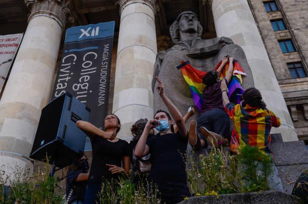 POL: Protesters In Warsaw Decry Arrest Of LGBT Activist