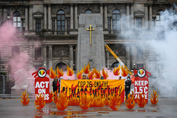 GBR: Field Of Climate Fire Is Installed in Glasgow's George Square
