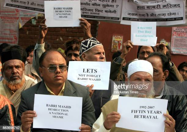 Activits of All India Muslim MajliseMushawarat protesting against the 1992 destruction of the 16thcentury Babri Mosque by Hindu extremists on its...