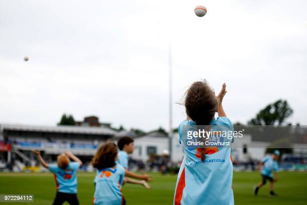 Activity from the All Stars cricket session at half time during the ICC Women's Championship 2nd ODI match between England Women and South Africa...