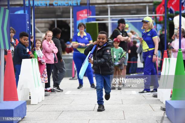 Activity from the ICC FanZone during the ICC Cricket World Cup 2019 at Old Market Square on May 30, 2019 in Nottingham, England.