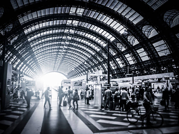 Activity in Milan Central Station, Italy