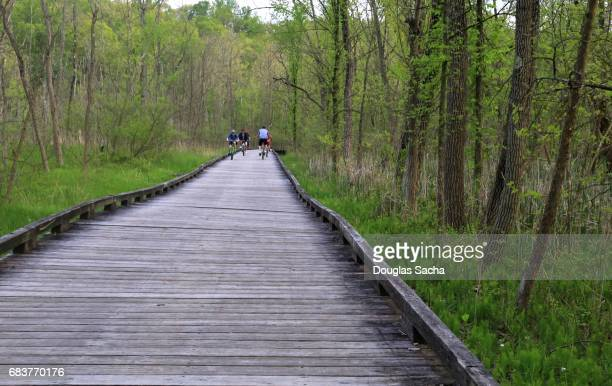 Activity on the towpath, Cuyahoga Valley National Park, Cleveland, Ohio, USA