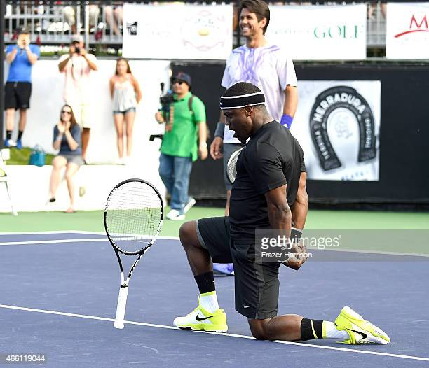 Actokevin Hart and tennis pro Fernando Verdascoplay tennis at the 11th Annual Desert Smash Hosted By Will Ferrell Benefiting Cancer For College at La...