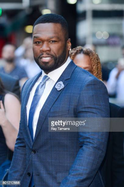 Actor 50 Cent leaves the 'Good Morning America' taping at the ABC Times Square Studios on June 26 2017 in New York City