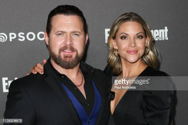 Actor A J Buckley and Abigail Ochse attend the Entertainment Weekly PreSAG party at the Chateau Marmont on January 26 2019 in Los Angeles California