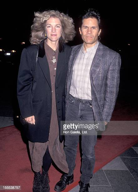 Actor A Martinez and wife Leslie Bryans attend An Unexpected Family Los Angeles Premiere on November 19 1996 at Bing Theatre Los Angeles County...