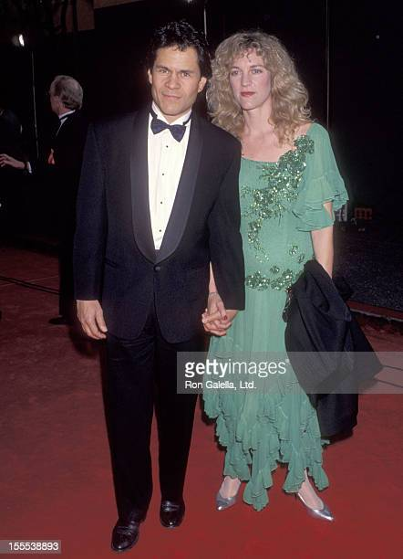 Actor A Martinez and wife Leslie Bryans attend the 19th Annual People's Choice Awards on March 9 1993 at Universal Studios in Universal City...