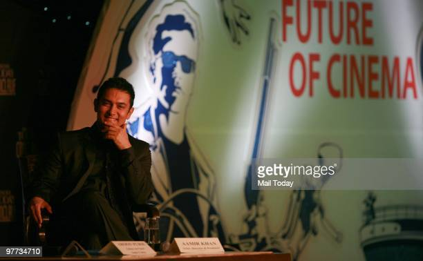 Actor Aamir Khan at the second day of the India Today Conclave in New Delhi on March 13 2010