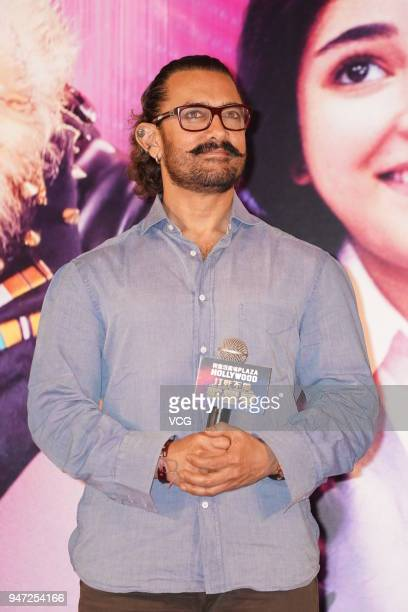 Actor Aamir Khan attends 'Secret Superstar' press conference on April 16 2018 in Hong Kong Hong Kong