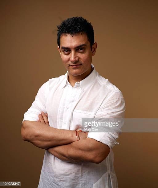 Actor Aamir Khan from Dhobi Ghat poses for a portrait during the 2010 Toronto International Film Festival in Guess Portrait Studio at Hyatt Regency...