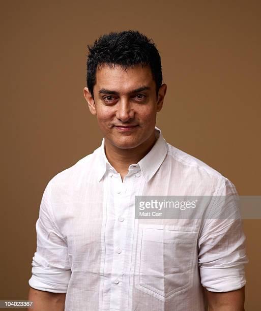 Actor Aamir Khan from 'Dhobi Ghat' poses for a portrait during the 2010 Toronto International Film Festival in Guess Portrait Studio at Hyatt Regency...