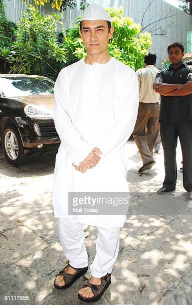 Actor Aamir Khan in the traditional attire on the occassion of EidulFitr on Monday