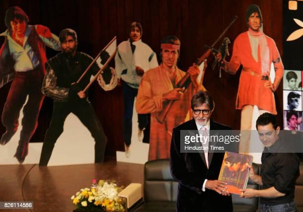 Actor Aamir Khan launch Amitabh Bachchan book Bachchanalia author by Bhavna Somaiya at NCPA in Mumbai on Saturday