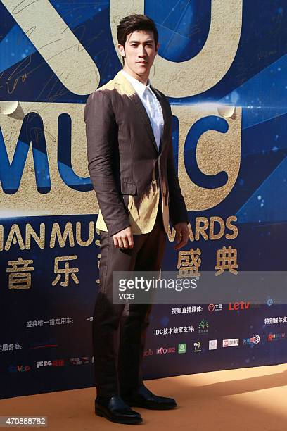 Actor Aarif Lee arrives at the red carpet of Ku Music Asian Music Awards on April 23 2015 in Beijing China