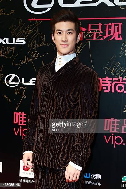 Actor Aarif Lee attends the Trends COSMO Beauty Awards 2014 Ceremony at Jingan ShangriLa Hotel on October 29 2014 in Shanghai China