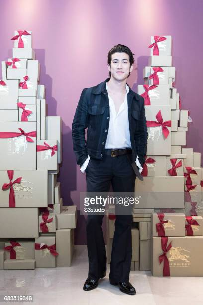 Actor Aarif Lee poses for a photograph on the red carpet at the Burberry Pacific Place event on 03 November 2016 in Hong Kong, China.