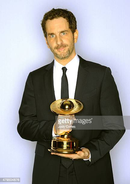 Actor Aaron Abrams accepts for Laurence Fishburne winner of Best Supporting Actor on Television for 'Hannibal' at 41st Annual Saturn Awards held at...